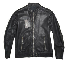 DIESEL L-ALL-ROW LEATHER JACKET SIZE S 100% AUTHENTIC