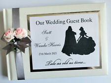 Darth Vader and Belle personalised wedding guest book, wedding album