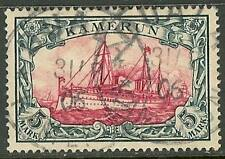 1900 German colonies Cameroun 5 Mark Yacht used - DUALA - $ 720.00