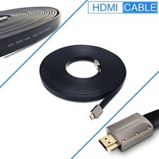 Certified 50ft Flat HDMI V1.4 3D Ethernet Cable Cord For 3D DVD XBOX PS4 HDTV
