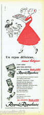 PUBLICITE ADVERTISING 036 1956  Raynal & Roquelaure  plats cuisinés
