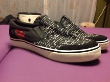 World Industries glide Slip On Shoes Sneakers Mens Size 9.5 Black Canvas Leather