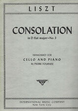 Vintage 1960 Lizst 'Consolation' in D-Flat Major No. 3 For Cello and Piano