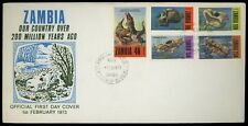 Zambia our country over 200 million years Busta commemorativa 1973 francobolli 5