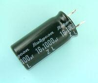 200 pcs Rubycon ZL 1000uf 16v 105C Radial Electrolytic Capacitor NEW Low ESR