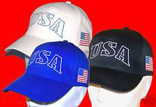 USA: CASQUETTE Américan Flag  en BLEU, NOIR ou BLANC