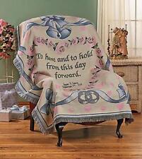 "Personalized Newlywed Throw Blanket Bride & Groom Wedding Gift 60""L x 50""W"