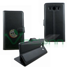 Custodia BOOKLET eco pelle NERA per ZTE Grand S3 cover stand libretto morbida