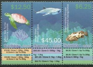 Samoa 2015 - Threatened Species Definitives Part 3 - Strip of 3 - MNH