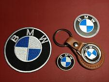 BMW CARS, LEATHER KEY RING,  BADGE & PATCH SET + FREE BMW PHONE STICKER