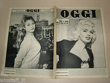 OGGI=1957/12=JAYNE MANSFIELD COVER MAGAZINE=BRIGITTE BARDOT=MARTHA HYER=