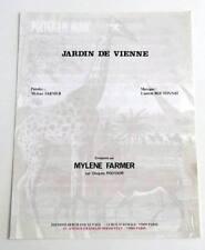 Partition vintage sheet music MYLENE FARMER : Jardin de Vienne * 80's