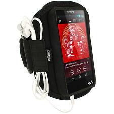 Schwarz Sports Armband Neopren Tasche für Sony Walkman NWZ-F886 F887 32/64GB MP3