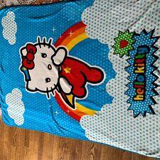 """VTG Sanrio Hello Kitty Fleece Blanket 47""""x63"""""""