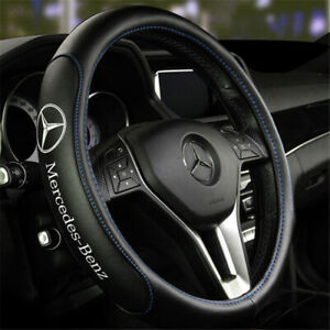 """15"""" Car Steering Wheel Cover Genuine Leather For Mercedes-Benz Nice"""