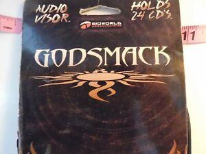 Godsmack Visor Cd Holder from BioWorld holds 26 CD's  Sully Erna, Shannon B26