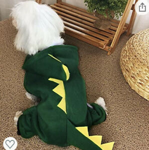 Pet Dinosuar Costume with Hood for Small Dog - New w/out Tags