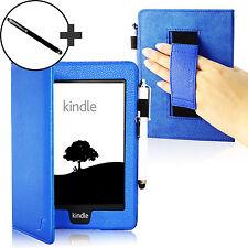 De Cuero Correa Azul Smart Funda Protectora Para Amazon Kindle Paperwhite 2015 + Stylus