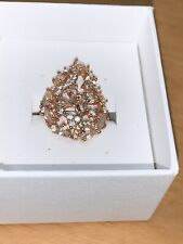 Rose Gold Diamond And Mossanite Ring