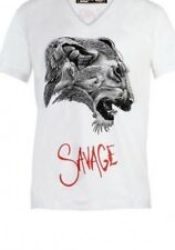 Sale! DOM REBEL XL White SAVAGE T-SHIRT V-Neck AUTHENTIC