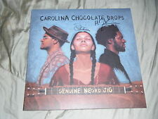 CAROLINA CHOCOLATE DROPS GROUP SIGNED GENUINE NEGRO JIG ALBUM