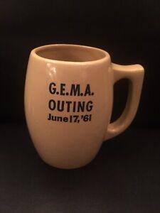 Watt Pottery 501 Mug G.E.M.A. Outing June 17, '61 RARE