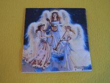 5 Servietten drei Engeln Musizieren Serviettentechnik 1/4 angels Motivservietten