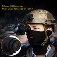 Waterproof Infrared IR Monocular Night Vision Helmet Telescope Device 100m LCD