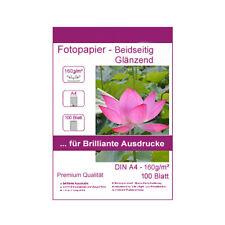 100 Blatt DIN A4 160g/m² Fotopapier beidseitig hochglänzend Photopapier glossy