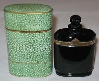 """Vintage Caron Nuit de Noel Perfume Baccarat Style Bottle/Box 1 OZ - 3"""" Ht, Trace"""