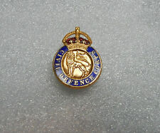 cold war Civil defence corps kings crown H.W .miller buttonhole badge
