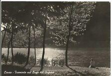 160471 COMO CANZO - LAGO del SEGRINO - TRAMONTO Cartolina FOTOGRAFICA viagg 1964