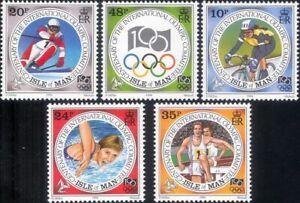 Isle of Man 1994 Olympic Games/Cycling/Skiing/Swimming/Sports 5v set (n18520)
