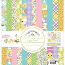 "Doodlebug Paper Pack - HOPPY EASTER - 12x12"" papers + sticker sheet"