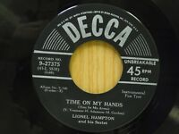 Lionel Hampton 45 Time On My Hands bw I'll Remember April - Decca VG+