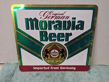 Moravia Beer Metal Sign Breweriana German Beer Sign