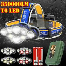 350000LM Rechargeable CREE T6 LED Headlamp Headlight Torch Flashlight Work Light