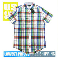Tommy Hilfiger Men's NWT Color Checkered Cotton Blend Button Down Shirt XL