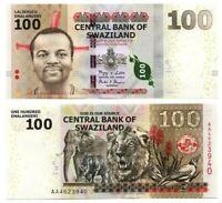 SWAZILAND eSwatini Tyvek 100 Emalangeni (2010) P-39 UNC Banknote Paper Money