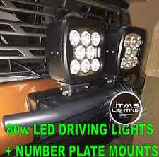 Nissan Qashqai XTRAIL SILVER Rego Number Plate Bracket Mounts 80w Driving Lights