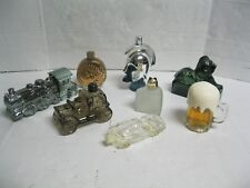 Avon Lot 8 Bottles Decanters Beer Mouse cheese Train Lion Coin Car Warrior head