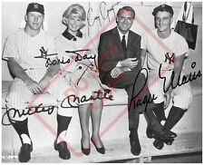 8.5x11 Autographed Reprint Photo Mickey Mantle Roger Maris Doris Day Cary Grant