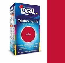 TEINTURE avec FIXATEUR TEXTILE TISSU ROUGE VIF IDEAL vetement coton soie
