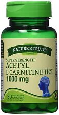 Nature's Truth Super Strength Acetyl L-Carnitine HCL Capsules 1000 mg 30 ea 5pk