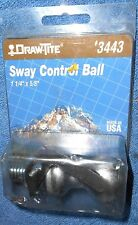 Draw-Tite Zinc Plated Trailer Sway Control Ball 3443 1-1/4 Inch Diameter