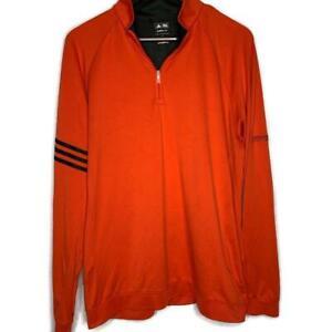 Adidas TransAmerica Investments Orange 1/4 Pullover Large Golf Mens Casual Shirt
