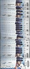 2013 MLB LOS ANGELES DODGERS BASEBALL COMPLETE SEASON FULL TICKETS - KERSHAW