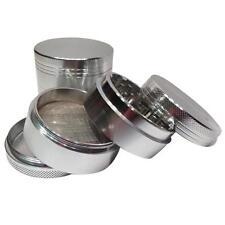 4-Schichten-Aluminiumlegierung Herbal Herb Tabak Grinder Rauchmühlen 42mm Silver