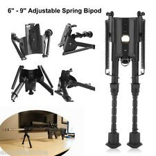 """6""""-9"""" Folding Harris Style Tactical Rifle Spring Bipod for Hunting 20mm Rail"""