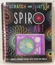 Spiro Art Book Scratch Sparkle Spirograph Creative Spiral Craft Kit Hardcover